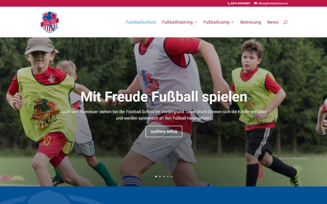 Neue Webseite von footballschool.at ist online